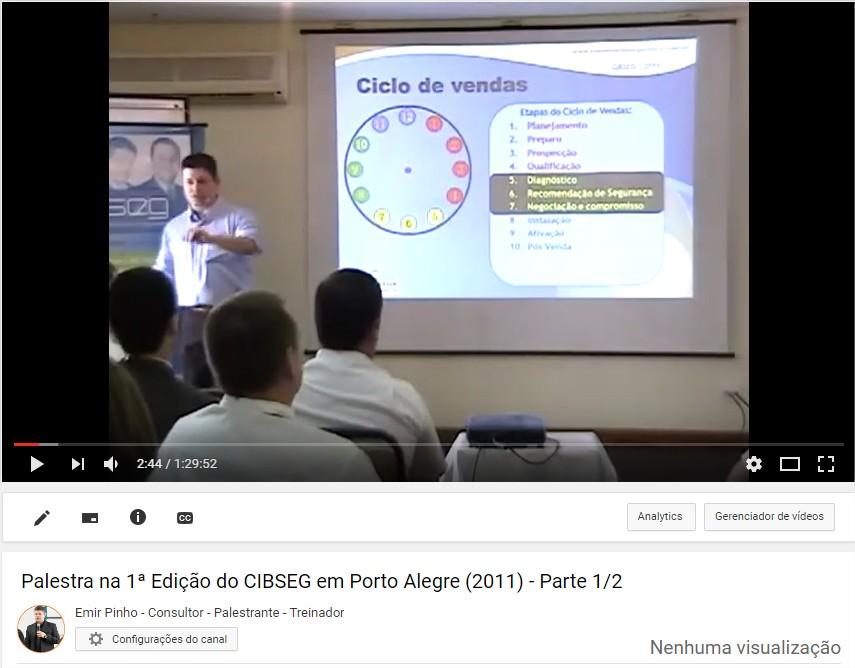 Palestra no CIBSEG em Porto Alegre (2011)
