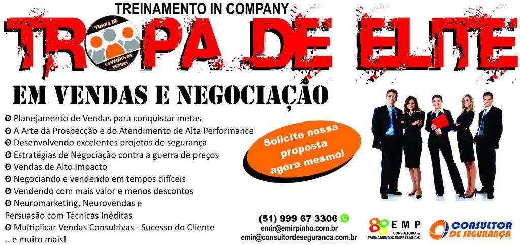 Treinamento in company - Tropa de Elite em Vendas e Negociação - Emir Pinho